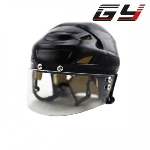 Hot sale black Mini ice hockey helmet with visor